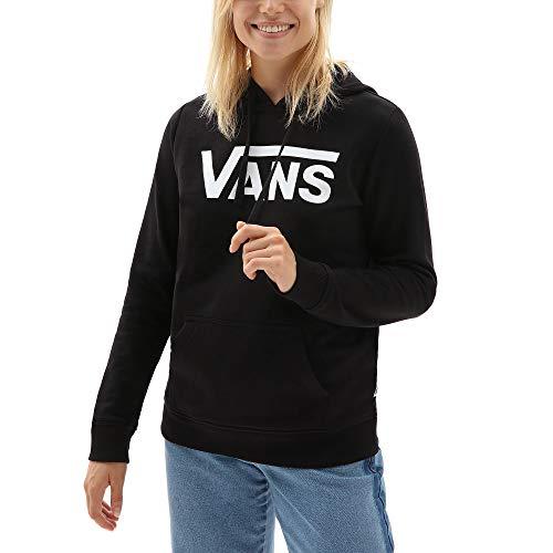 Vans Classic V Ft Hoodie Capucha, Negro (Black Blk), 36 (Talla del Fabricante: Small) para Mujer