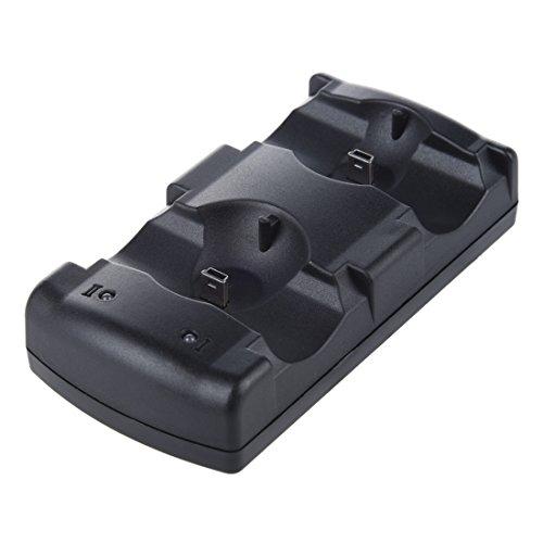 Senmubery Cargador 2en1 USB Charge Double Deck para Controlador inalambrico de PS3 Mover