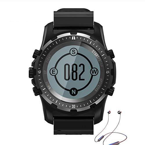 Reloj Deportivo Para Hombres, Reloj Digital Inteligente Con GPS Compass Barómetro Análisis De Tarifas Cardíacas Calorías Pedómetro Fitness Tracker Watch, Para Deportes Al Aire Libre Senderismo,Negro