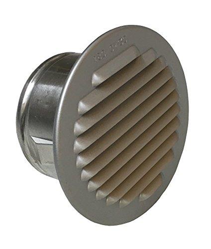 Trobak Lüftungsgitter Aluminium eloxiert mit Stutzen, DN 75-80 mm