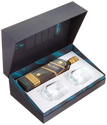 Johnnie Walker Blue Label, Geschenkpackung mit 2 Gläsern Blended Whisky (1 x 0.7 l)