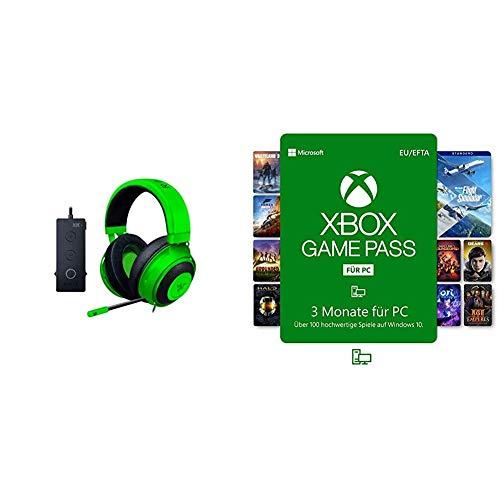 Razer Kraken Tournament Edition - Esports Gaming Headset (Kabelgebundenes Gaming Headphones mit USB-Audio-Controller, Plattformübergreifende Kompatibilität) + Xbox Game Pass für PC (3 Monate)