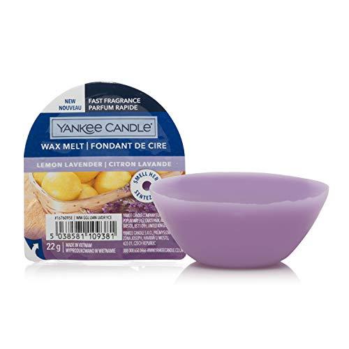 Yankee Candle cialde di cera profumate Wax Melt   Lavanda al limone   Durata della fragranza: fino a 8 ore   1 pezzo