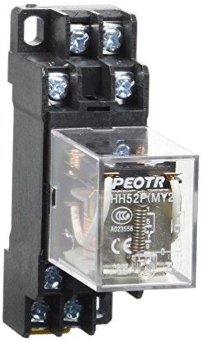 heschen Gereral Bobina de rel/é de prop/ósito HH52P-L 12/VAC 5/A 28/VDC//240VAC DPDT LED indicador 8/pines terminales