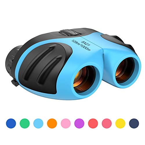8x21 Powerful Binoculars for Kids, High Resolution Real Optics Small Telescope Shockproof Waterproof Compact Binocular for Bird Watching Travel Hunting Camping Watching Outdoor Sports Games Concerts