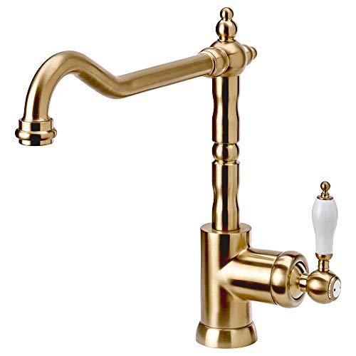 GLITTRAN rubinetto cucina 28x25 cm ottone
