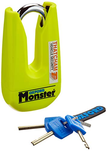 Oxford Monster Disc Lock Yellow-Sold Secure Gold OF36M