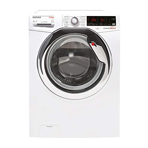 Hoover WDXOA G4118AHC-84 Waschtrockner - 11 kg Waschen / 8 kg Trocknen - Dampf-Funktion, Weiß, 1400 U/Min