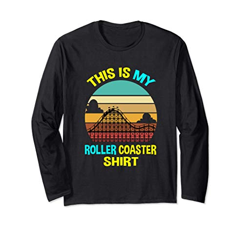 Funny Hobby My Roller Coaster Regali Rollercoaster Tee Maglia a Manica