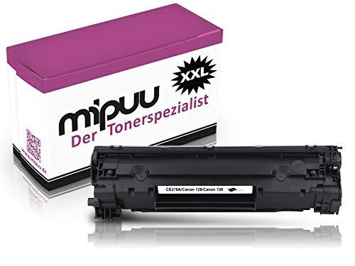 Mipuu Cartucho de tóner compatible con HP 78A CE278A (Black Negro, 3000 pagine) para HP Laserjet P1606dn P1566 Pro M1536dnf MFP Professional P1606dn Impresora láser