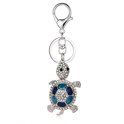 N/Een schildpad olie schilderij schildpad hanger bedeltje strass kristal portemonnee tas sleutelhanger accessoires