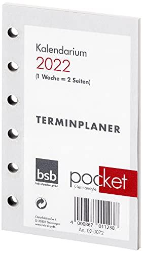 BSB Kalendarium Kalendereinlage Terminplaner Pocket A7 1 Woche