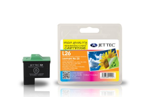 Jet Tec 10N0026 - Cartucho de tinta para impresoras (Cian, magenta, Amarillo, Lexmark All-in-One X1155 - Lexmark All-in-One X1160 - Lexmark All-in-One X1170, Inyección de tinta) Si