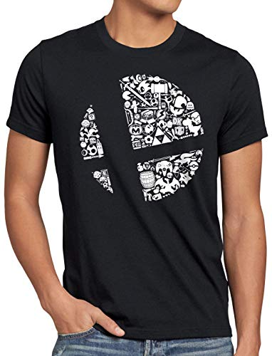 A.N.T. Brawler T-Shirt Homme Ultimate Bros Switch, Taille:XL, Couleur:Noir
