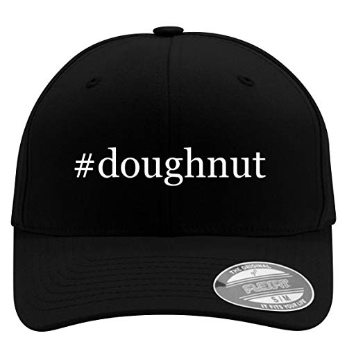 #Doughnut - Flexfit Adult Men's Baseball Cap Hat, Black, Small/Medium