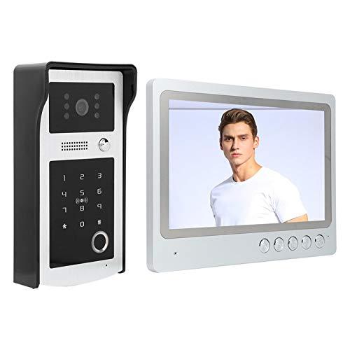 Control de huellas dactilares con ahorro de energía, timbre LCD, control de tarjeta IC, videoportero WIFI(European regulations)