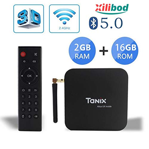 Xilibod Tanix TX6 Android 9.0 TV Box 2GB RAM/16GB ROM 4K TV Allwinner H6, up to 1.5 GHz, Quad core ARM Cortex-A53 H.264 Decoding 2.4GHz WiFi Smart TV Box(EINWEG)