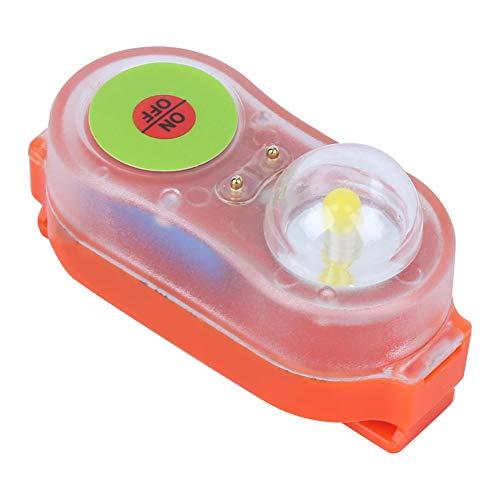 Redxiao Chaleco Salvavidas Ligero de Litio, lámpara de Chaleco Salvavidas, lámpara de luz de atracción llamativa Naranja/Cian de plástico de 30 g, Salvavidas para Chaleco Salvavidas(Orange)