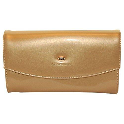 Hexagona Clutch Abendtasche Gala Tasche in Gold
