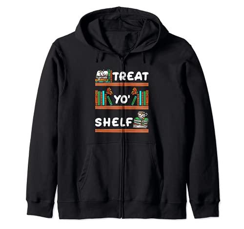 Treat Yo' Shelf - Lector de bibliotecario de Halloween Sudadera con Capucha