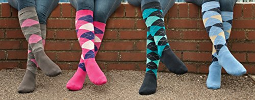 Rhinegold Cool & Dry Cushioned Sole Riding Socks-Pink/Navy Calcetines, Rosa y Azul Marino, Talla única