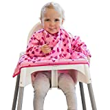 New Tidy Tot Cover & Catch Waterproof Bib attaches to highchair NO More Gaps ! Long Sleeve Coverall...