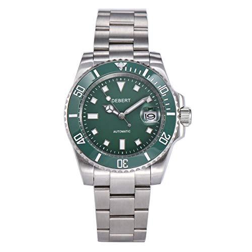 40mm DEBERT DT5065 Green dial Luminous Mechanical Automatic Mens Watch