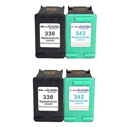 Compatible 336xl 342xl cartuchos de tinta reemplazo, para HP Deskjet 5420V 5432 5440 5442 impresora 2 sistemas