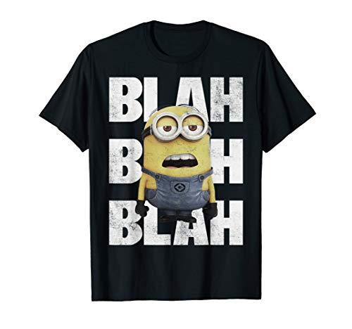 Despicable Me Blah Blah Blah Bored Minion Movie Graphic T-Shirt