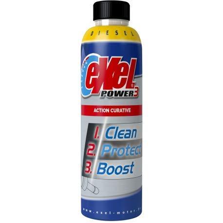 Exel Motor® - Exel Power3® curatif - Diesel - nettoyant injecteur et soupape Voiture Diesel - Traitement Moteur véhicule Gas-Oil