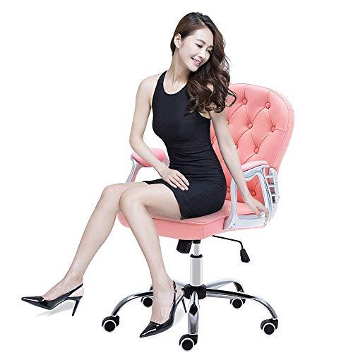 YANGSANJIN Zachte en Comfortabele bureaustoel Faux Lederen Swivel Verstelbare Home Office Computer Bureau Stoelen