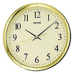 Seiko 12 Ultra-Modern Gold-Tone Wall Clock