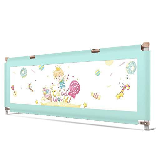 DCC Zug Bett für kleine Kinder – Bedrail Schutz für Kinder 75 cm Höhe Antiklemmschutz Hände 150 cm, 180 cm, 200 cm 200cm B