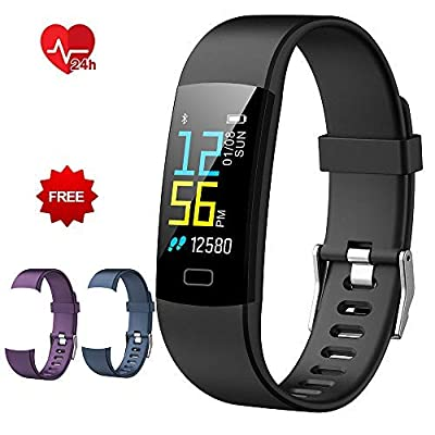 Loping Fitness Tracker, Fitness Watch with Heart Rate Monitor Waterproof Smart Activity Tracker with Sleep Tracker Step Calories Counter Pedometer Watch for Kids Women and Men