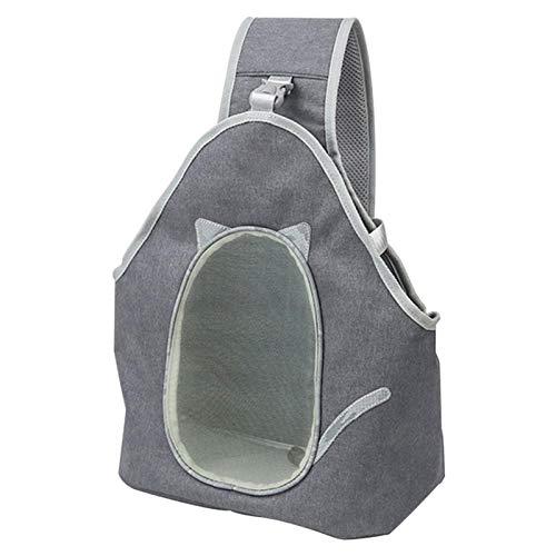 POHOVE Mochila frontal portátil para mascotas, bolsa de viaje al aire libre transpirable con correa ajustable, cómoda malla para perro pequeño con base extraíble para mascotas