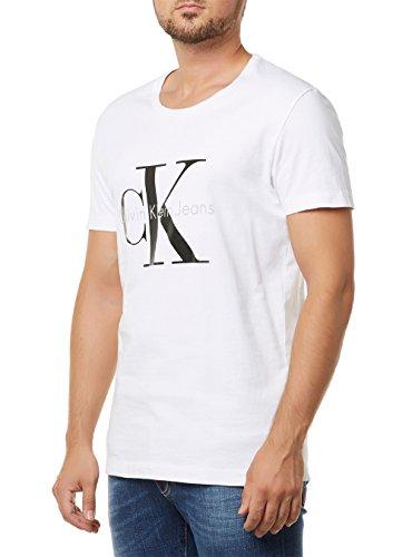 Calvin Klein Jeans TEE - Camiseta para hombre, color Blanco (Bright White...