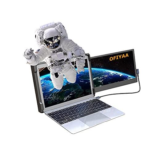 OFIYAA P1 Tragbarer Monitor Laptop Bildschirm Kompatibel mit 13''-16'' Mac PC/Notebook 11.6'' Display Gaming Bildschirm FHD IPS USB-A/Type-C/HDMI 2 Lautsprecher Gaming Monitor Extender