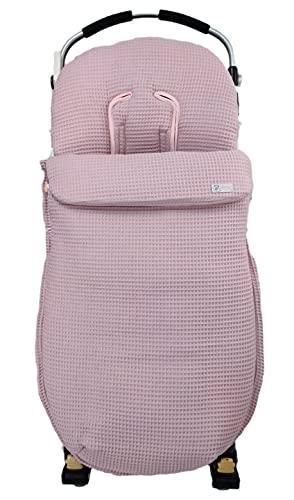 Saco silla paseo universal sacos carrito (Waffle rosa maquillaje)