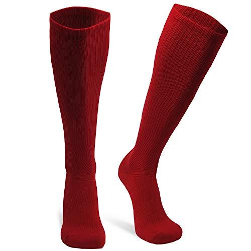 DANISH ENDURANCE Calcetines de Compresión de Algodón Orgánico Pack de 1 (Rojo, EU 35-38 // UK 3-6)