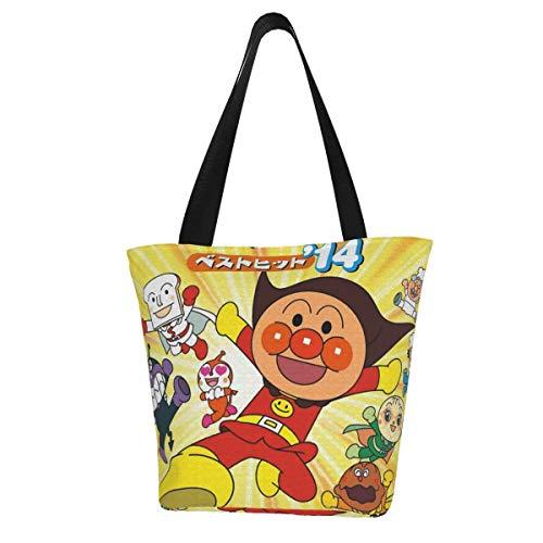 それいけ!アンパンマン (3) レディーストートバッグ トートバッグ ショルダー 大容量 肩掛け キャンバス 出掛け 通勤 通学 ビジネスバッグ