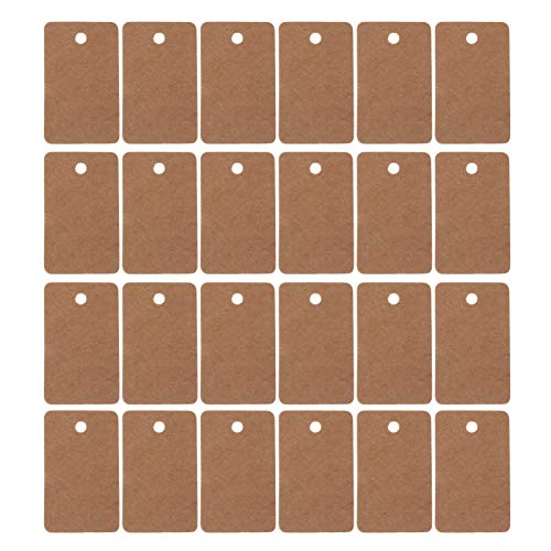 STOBOK 200Pcs Weihnachten Hängende Geschenkanhänger Kraftpapier-Notizanhänger Die Etikettennamen-Verpackungskarten-Mini-Feiertagsgrußkarten für Weihnachtsbaum-Neujahrsdekoration