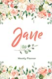 Jane Weekly Planner: Undated Version include Habit Tracker | Monthly Review | Journal...