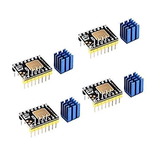 Auoeer 3D Printer Part Stepstick Mute TMC2130 V3.0 Stepper Motor Driver with Heat Sink for SKR V1.3 Ramps 1.6 1.5 MKS GEN L Control Board (Step/Dir)