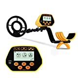 SAKOBS Metal Detector for Adults & Kids - High Accuracy Professional Waterproof Metal Detector with LCD Display 8.8 Inch Waterproof Search Coil for Treasure Hunting