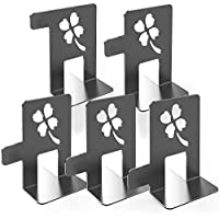 5 Pack Heavy Duty Bookends Lucky Four Leaf Clover Design
