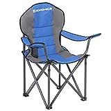 SONGMICS Campingstuhl, klappbar, Klappstuhl, komfortabler mit Schaumstoff gepolsterter Sitz, mit...