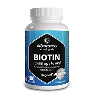 Biotin hochdosiert Vitamin B7 vitamaze vegan Tabletten