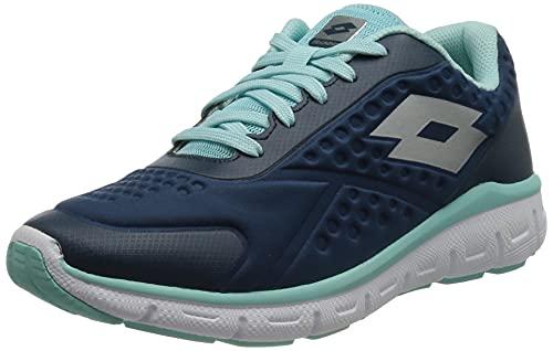Lotto Dinamica 250 W, Zapatillas de Atletismo Mujer, Azul (BLU ORN/Slv MT 000), 40.5 EU