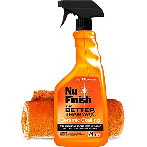 Nu Finish Better Than Wax Ceramic Coating + Microfiber Towel (2 Items) - 24 fl oz, Ceramic Car...