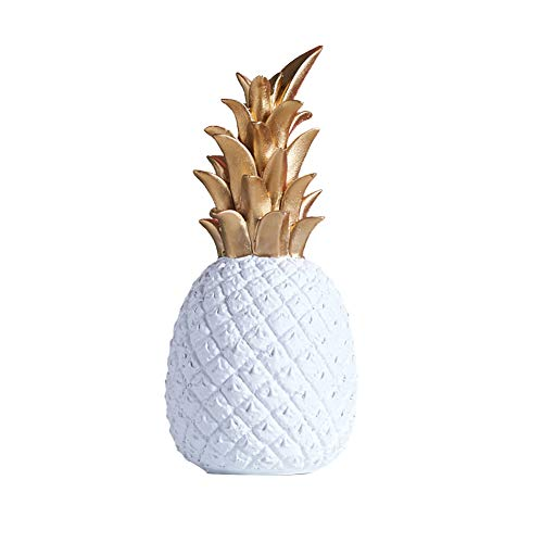 Surakey Pineapple Decoration Ornaments, Nordic Modern Fruit Shape Resin Pineapple Decoration Home Bedroom Desktop Decor Pineapple Gifts Ornaments